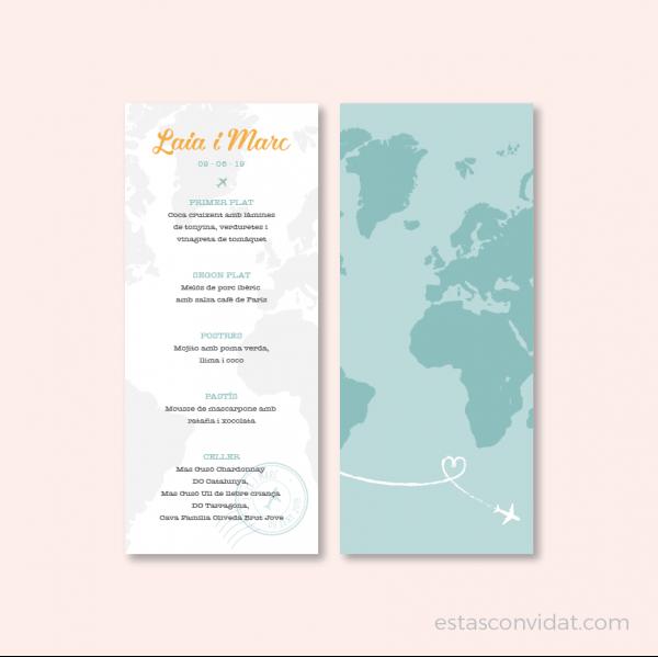 Invitació de casament - Viatge