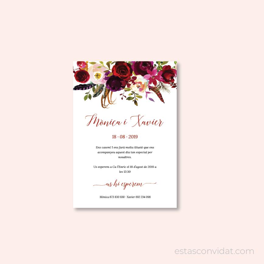 Estàs Convidat - Disseny d'invitacions de casament personalitzades
