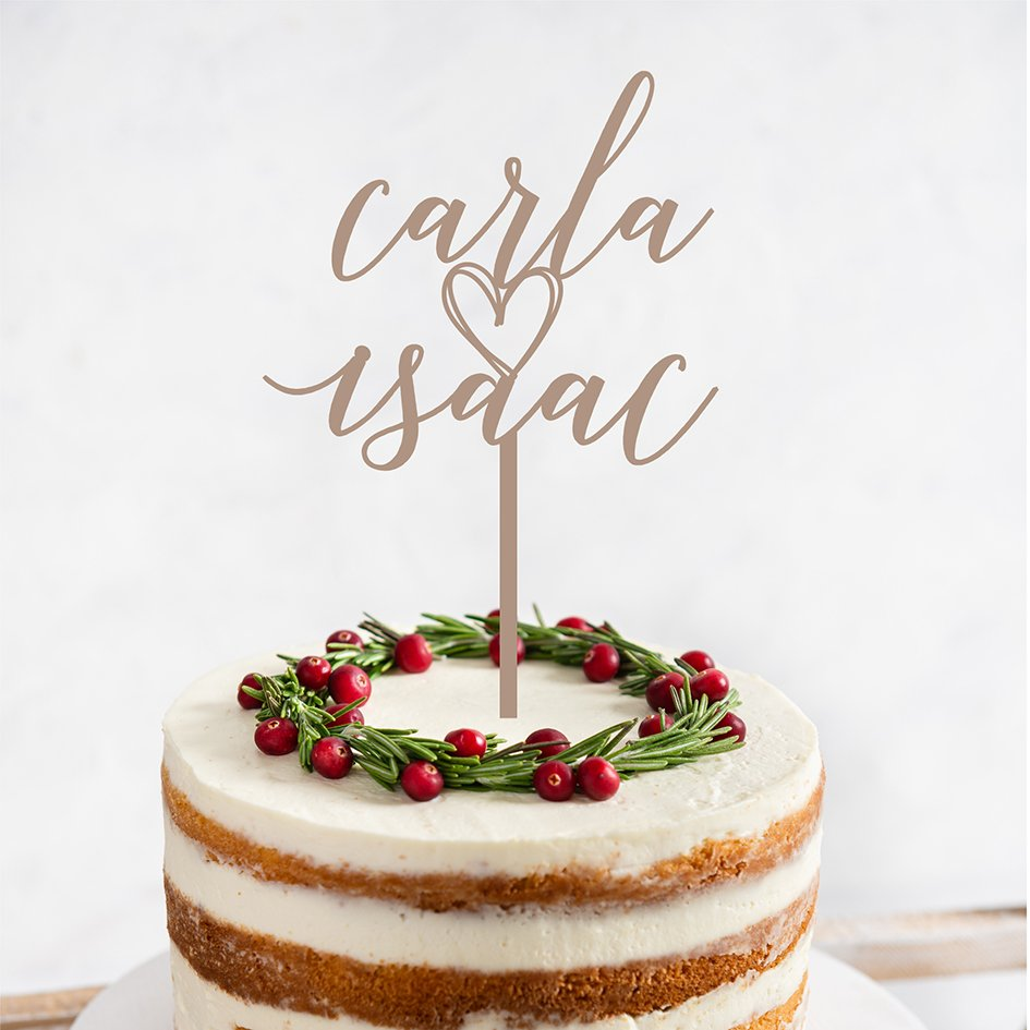 Topper per a pastís casament aniversari